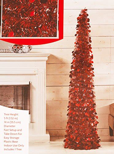 red pop christmas tinsel tree pop up tinsel tree pull up tree 5 high buy in uae home garden