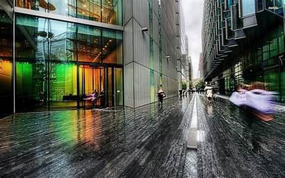Rain Street London Streets Cityscapes Wallpapers Rainy