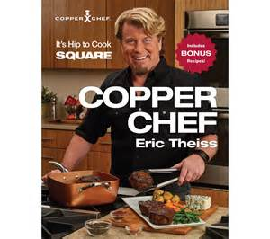 quot the copper chef quot cookbook by eric theiss page 1 qvc