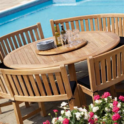 schneider furniture buckingham teak garden dining table westminster garden