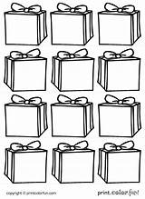 Gift Boxes Tags Printable Coloring Printables Presents Printcolorfun Give Handy Holiday sketch template