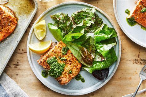 cumin roasted salmon  cilantro sauce recipe nyt cooking