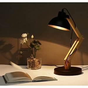 Lampe à Poser Industriel : lampe poser en bois industriel lampe salon chambre salle ~ Teatrodelosmanantiales.com Idées de Décoration