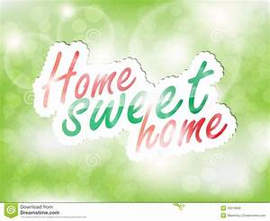 Sweet Home Background Royalty Free Stock Images