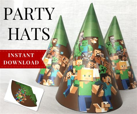 complete printable minecraft party pack minecraft