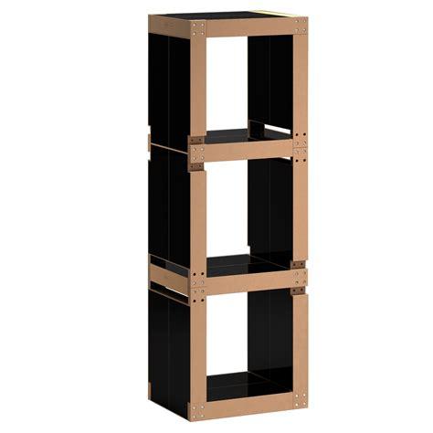 bibliothèque originale design cuisine meuble biblioth 195 168 que colonne noir fabulem meuble
