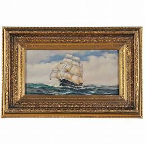 Sailing Ship Oil Painting Painting With Frame Free Shipping