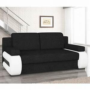 Canapé Noir Pas Cher : canap lit pas cher avec coffre sofamobili ~ Dode.kayakingforconservation.com Idées de Décoration