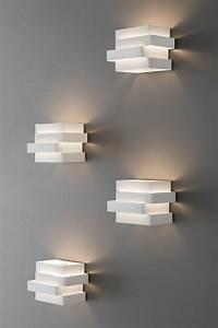 Avant Design Applique De Chevet Cube En Aluminium Blanc à Rectangles