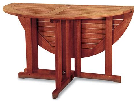 all wood patio folding table 48 inches