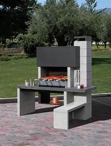 barbecue fixe barbecue en pierre tout savoir pour bien With exemple d amenagement de jardin 1 faites de votre jardin un espace zen portail maison