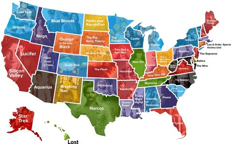 Your State's Favorite Tv Show (map)  Cabletvcom