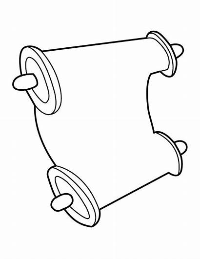 Scroll Clip Clipart Bible Line Template Cliparts