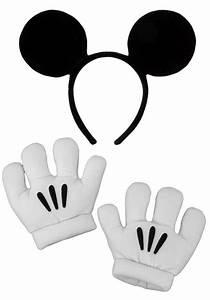 Disney Mickey Mouse Ears Headband And Gloves Set Candy