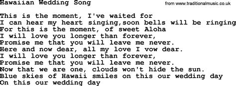 Hawaiian Wedding Song, By Marty Robbins