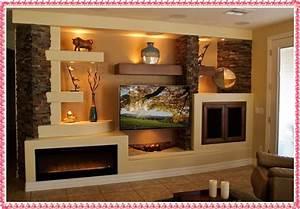 Gypsum tv wall unit idea crowdbuild for