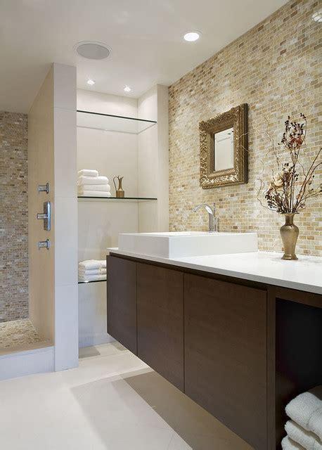 bathroom condo glass shelves false contemporary creek shower shelf floating houzz wall elegant vancouver tile designs bath nigel associates walker