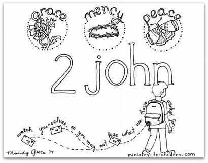 Coloring John Bible Children Ministry Mandy Format