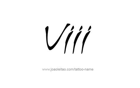 viii roman numeral tattoo designs tattoos  names