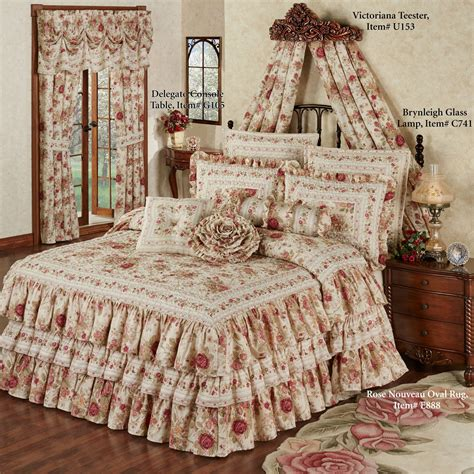 Floral Bedspreads by Top 28 Ruffled Bedspreads Intrigue Chenille Ruffled