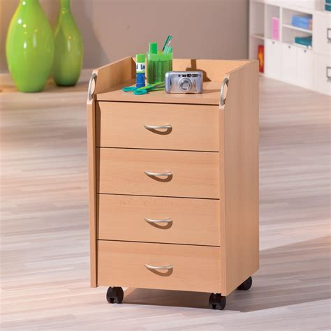caissons de bureau caisson de bureau 4 tiroirs quot quot hêtre