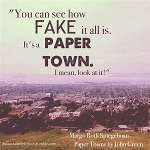 Book Paper Towns Quotes. QuotesGram