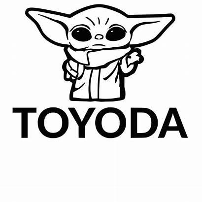 Yoda Toyota Decal Toyoda Sticker Funny Window