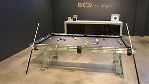 Clear Glass Pool Table : Glass Pool Table with Ideal