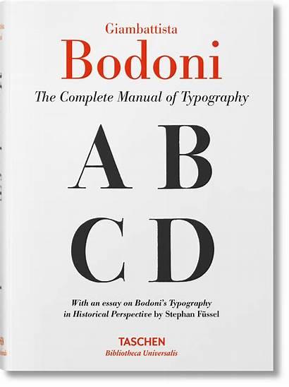Bodoni Typography Giambattista Manual Tipografico Manuale Books