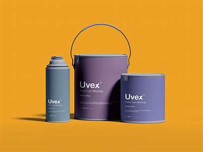 Paint Packaging Mockup Psd Bucket Designs Cans