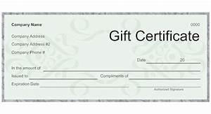 best photos of gift certificate template design black With make your own gift certificate template free