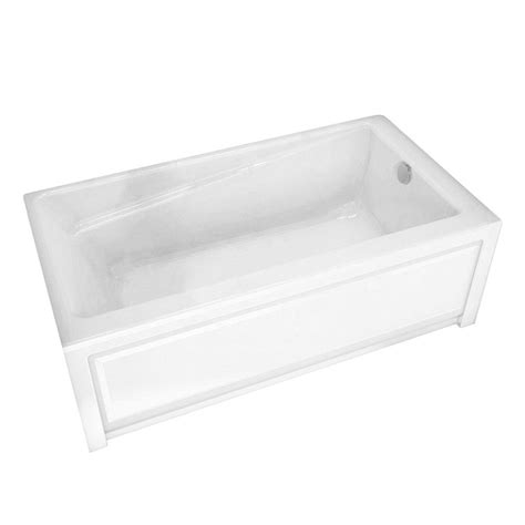 maax new town 5 ft right drain soaking tub in white