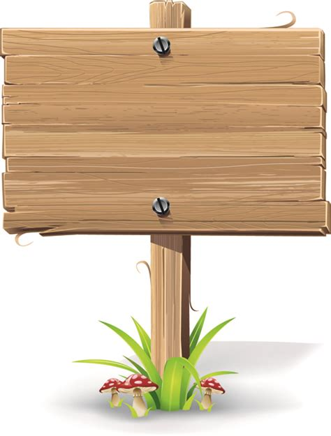 wood sign templates vector wooden signs design elements 02 free