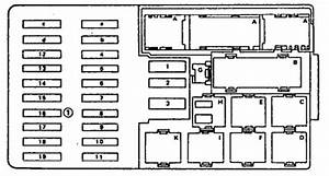 Mercedes-benz 560sel  1990 - 1991  - Wiring Diagrams - Fuse Box Diagram