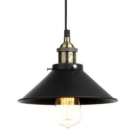 vintage industrial lighting iron 1 light pendant american