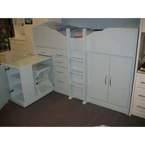 raised bed with desk high sleeper cabin bed with raised ladder storage desk