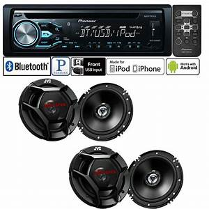 Pioneer Car Stereo Radio Bluetooth Cd Player   2 Pair  4  Car Speakers 638827813802