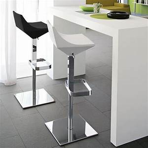 Tabouret De Bar Fixe : tabouret de bar design blanc pied r glable sur cdc design ~ Dailycaller-alerts.com Idées de Décoration