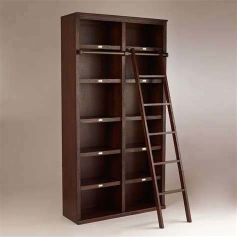 world market bookcase library bookcases with ladders tidbits twine