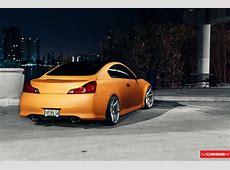 Matte Orange Infiniti G37 on Vossen Wheels autoevolution