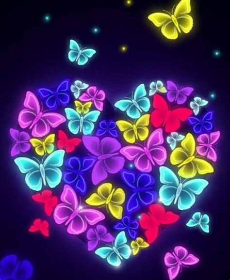 Inimi colorate 💚💙 💛 flori si fluturi 🦋🌺🌹... - Imagini Frumoase | Facebook