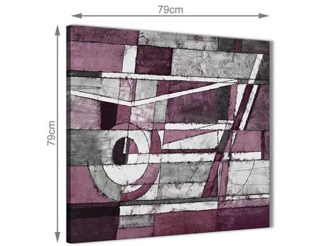 plum grey white painting abstract office canvas pictures