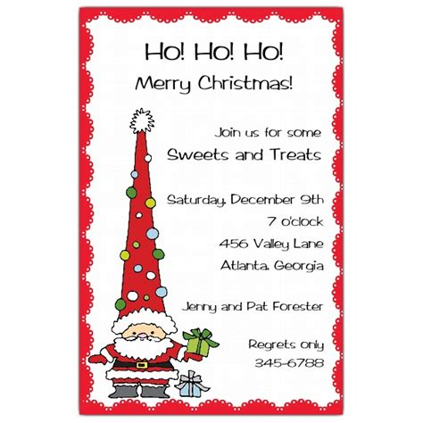 funky santa holiday christmas invitations paperstyle