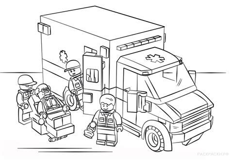 dibujos de ambulancias  colorear  imprimir