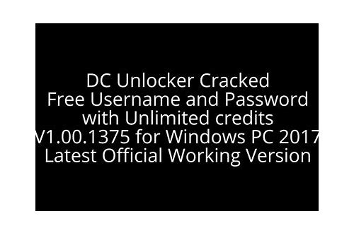 dc unlocker cracked version unlimited credit for free download