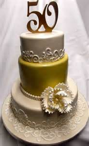 50th wedding anniversary colors gold and 50th anniversary cake decoration idea