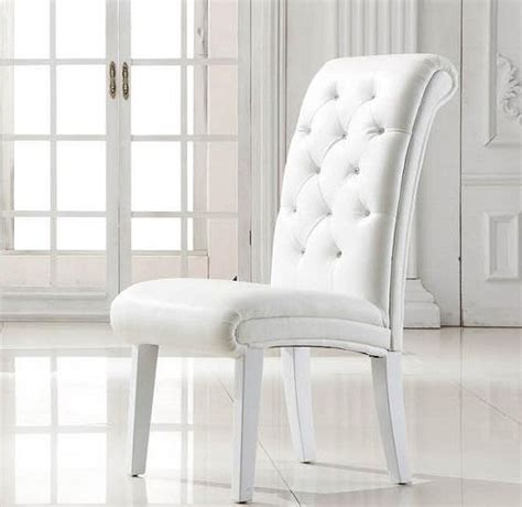 White Dining Room Chairs by 20 Ideas Of White Leather Dining Chairs Dining Room Ideas