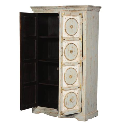 rustic solid wood french quarter bedroom armoire storage