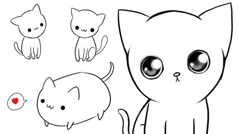 ways  draw cute cats youtube