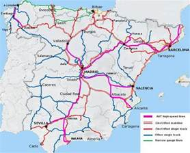 High Speed Train Spain Map